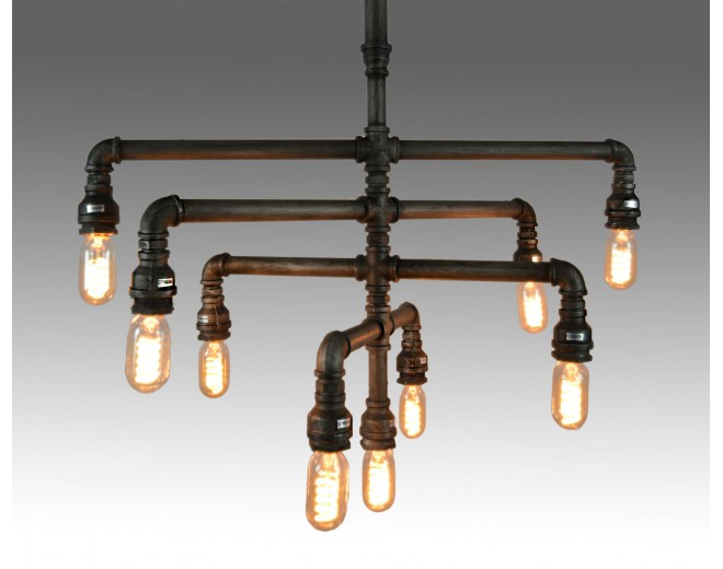pipe chandelier